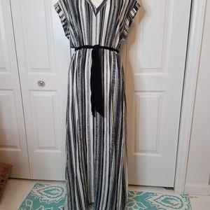 Dress striped black & white H&M size 14 Maxi